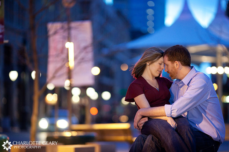 Denver engagement portraits in LoDo
