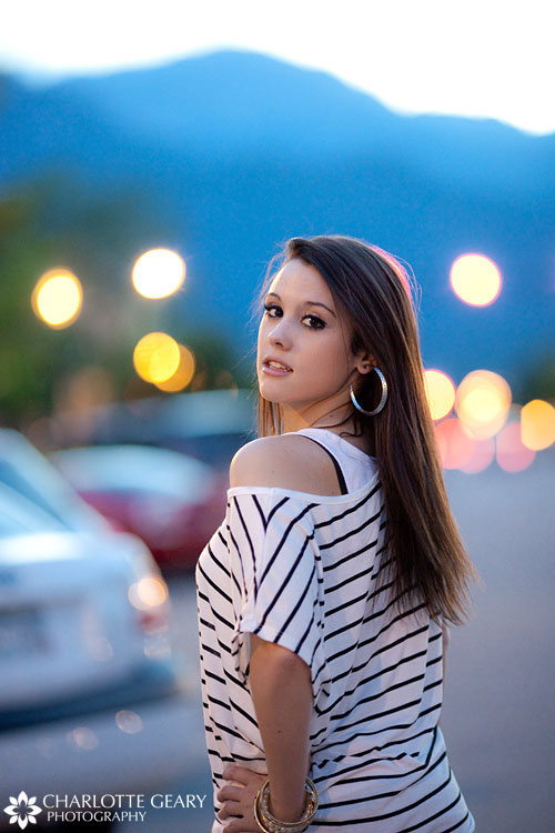 Portrait of a young woman in downtown Colorado Springs | Photo by Charlotte Geary