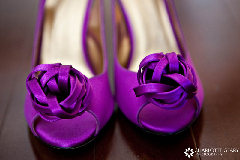 Purple wedding shoes | Photo by Charlotte Geary