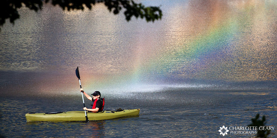 Kayaker on Lake Anne