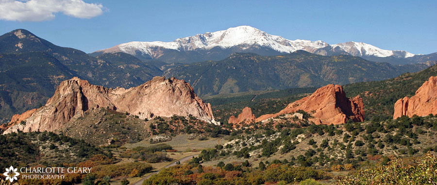 Garden of the Gods and Pikes Peak | Photo by Charlotte Geary