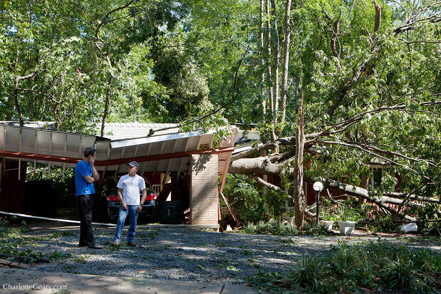 Storm damage after a derecho in Reston   Photo by Charlotte Geary