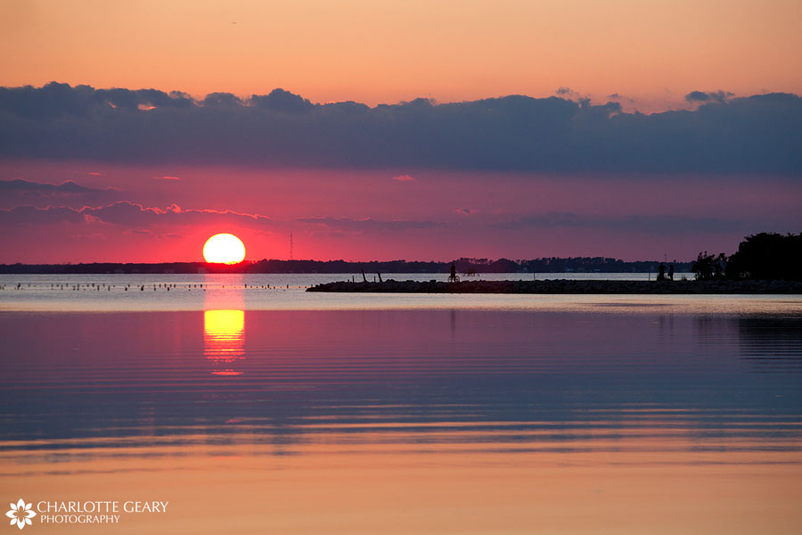 Sunset over the Currituck Sound in Corolla, NC   Photo by Charlotte Geary