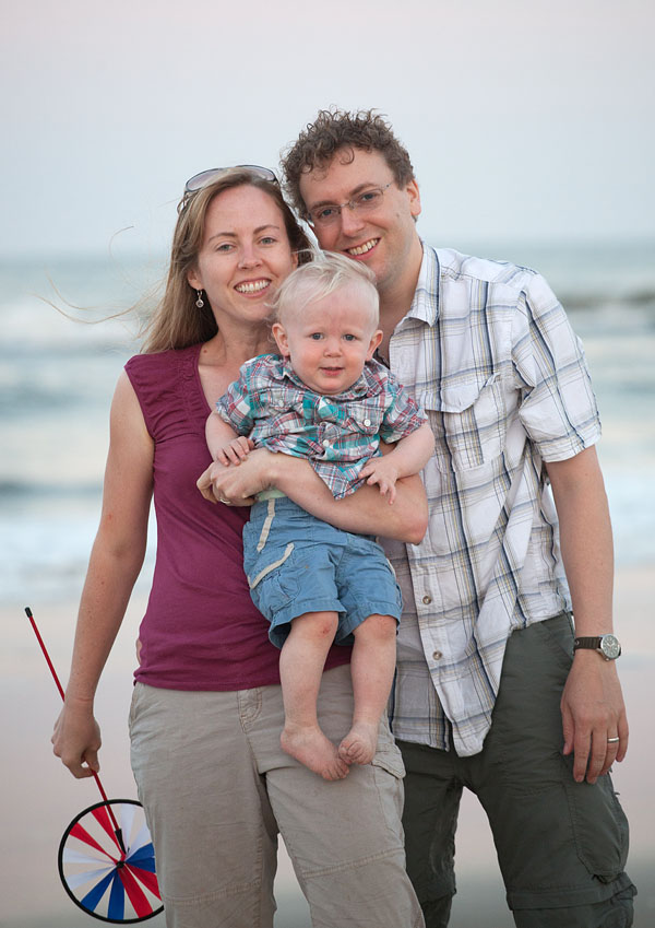 Charlotte Geary and family at the beach