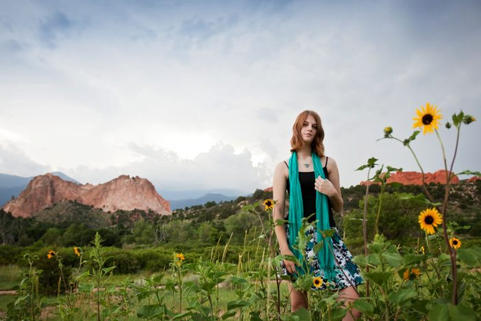 Portrait of a young woman at the Garden of the Gods