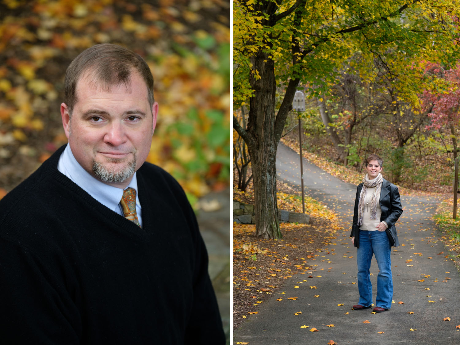 Fall business photos at Lake Anne Plaza in Reston, Virginia