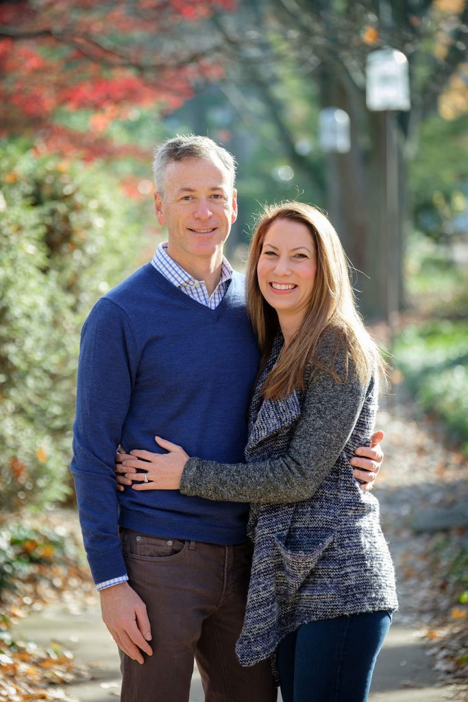 Fall family portraits at Lake Anne in Reston, Virginia