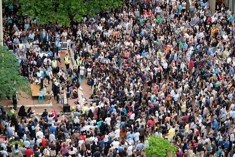 Vigil for Nabra Hassanen in Reston, Virginia