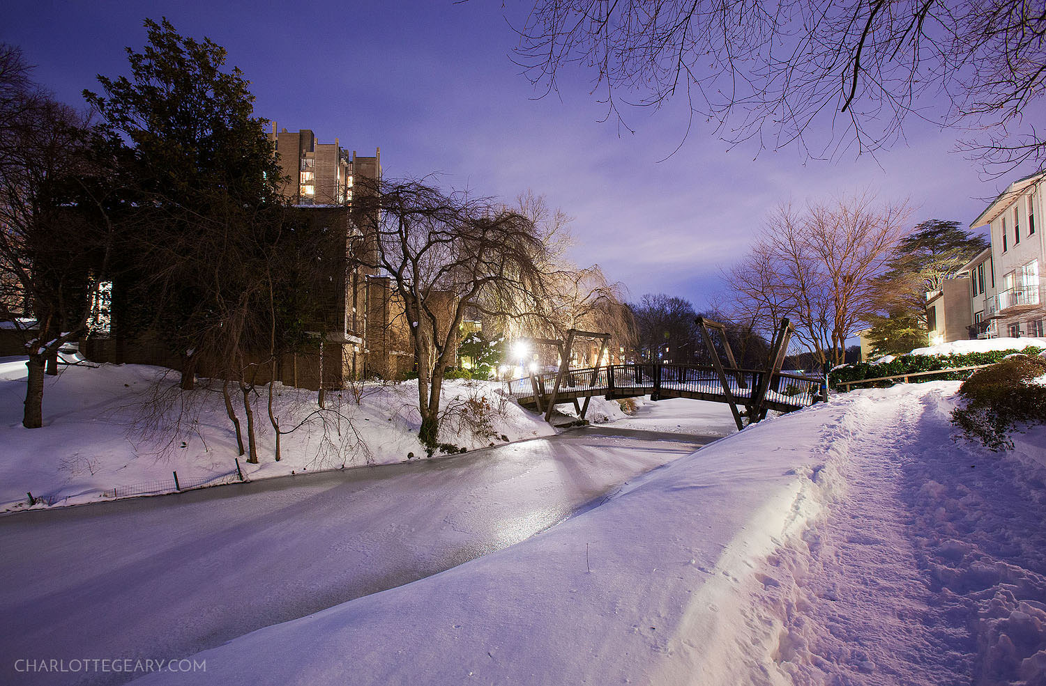 Lake Anne after a blizzard