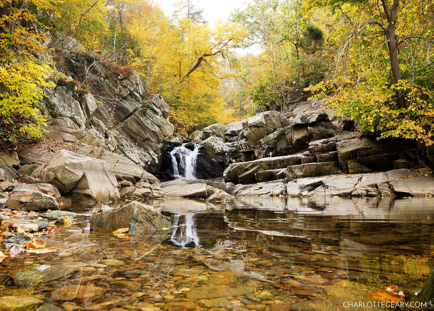 Scott's Run waterfall in McLean, Virginia