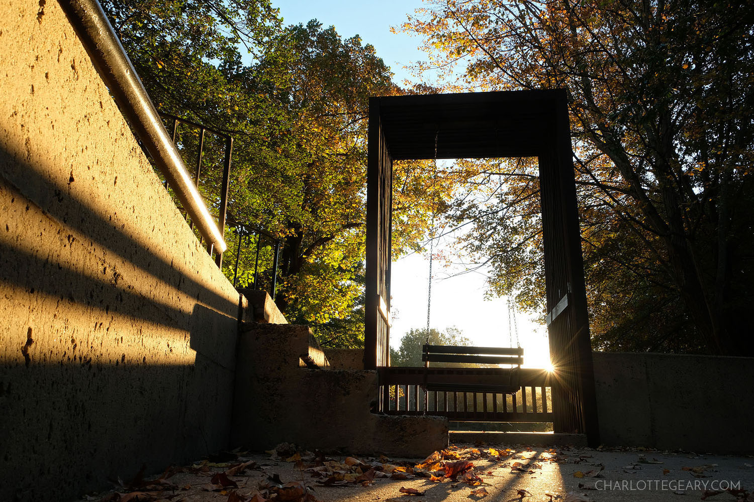 The Lake Anne canal swing in Reston