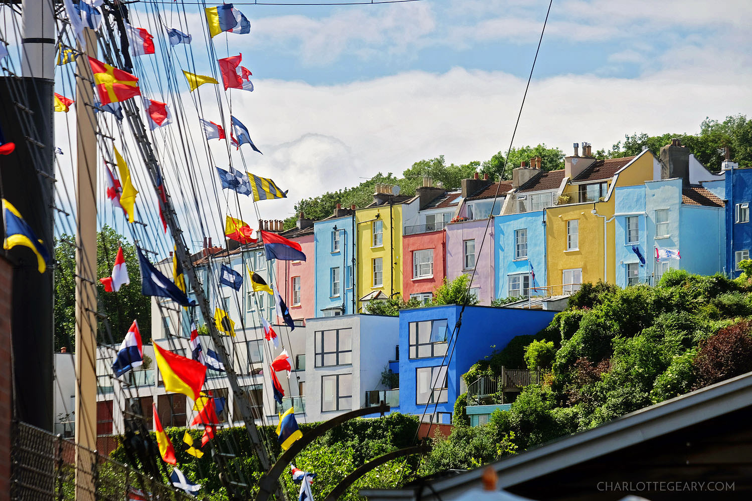Colorful houses in Bristol