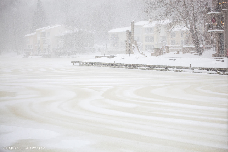 Blizzard at Lake Anne in Reston, Virginia