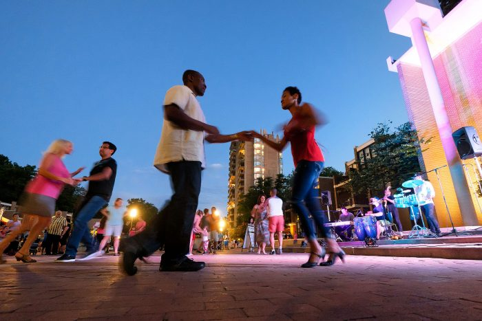 Dancers at a concert at Lake Anne in Reston, Virginia