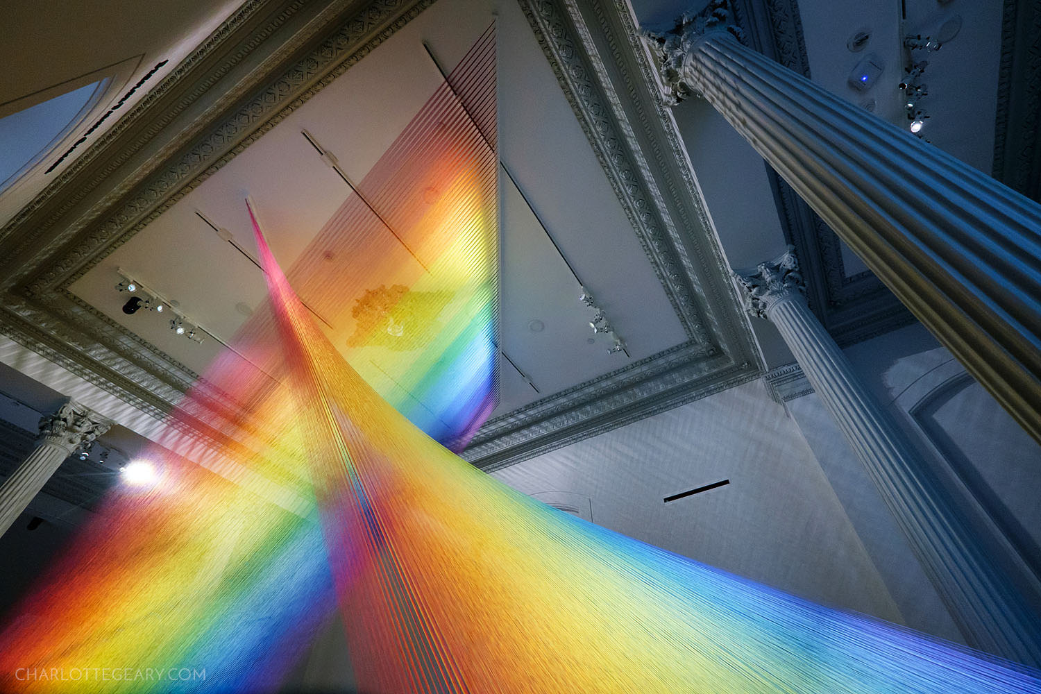 """Plexus"" by Gabriel Dawe at the Renwick Gallery"