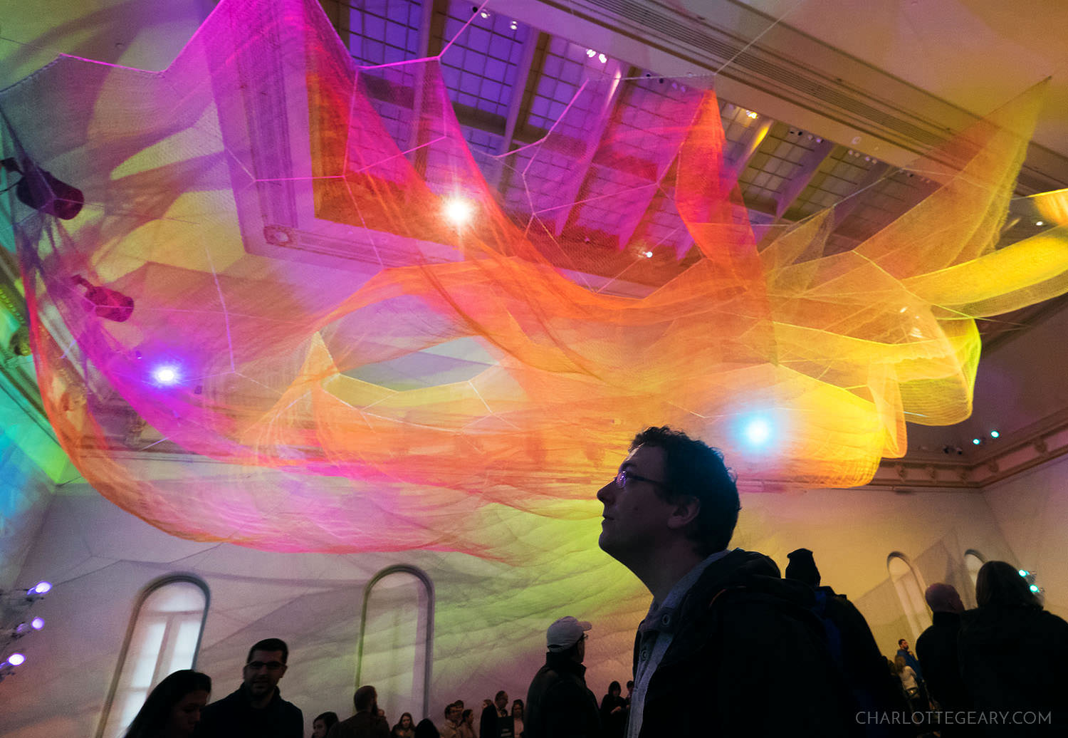 """1.8 Renwick"" by Janet Echelman at the Renwick Gallery"