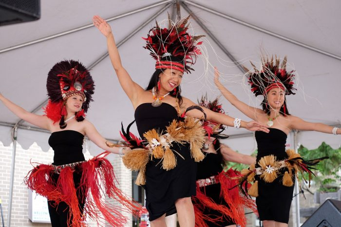 Polynesian dancers at the Reston Multicultural Festival