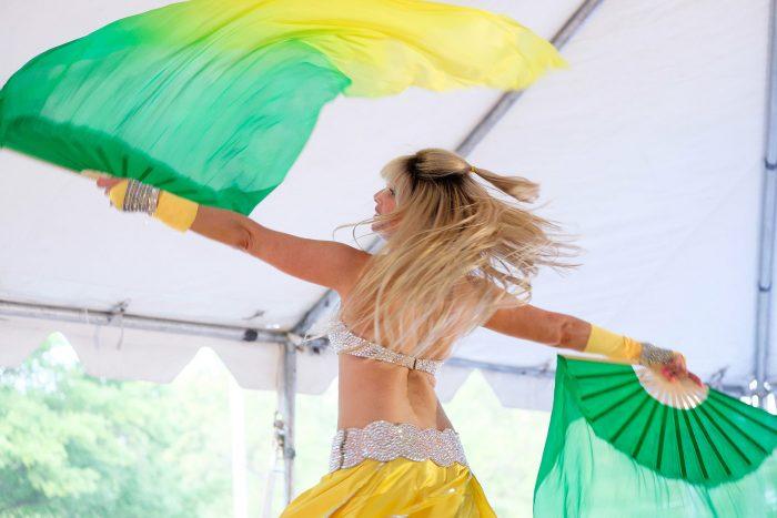 Belly dancer at the Reston Multicultural Festival