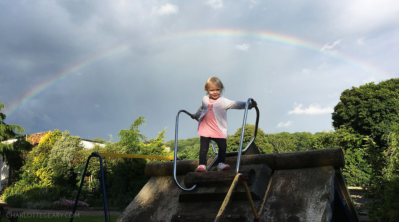Rainbow over Rodney Stoke