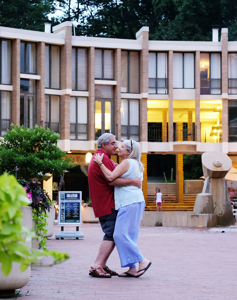 Dancing under the stars at Lake Anne Plaza