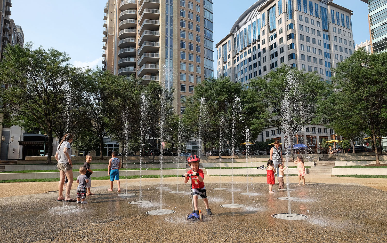 The fountains at Town Square Park at Reston Town Center