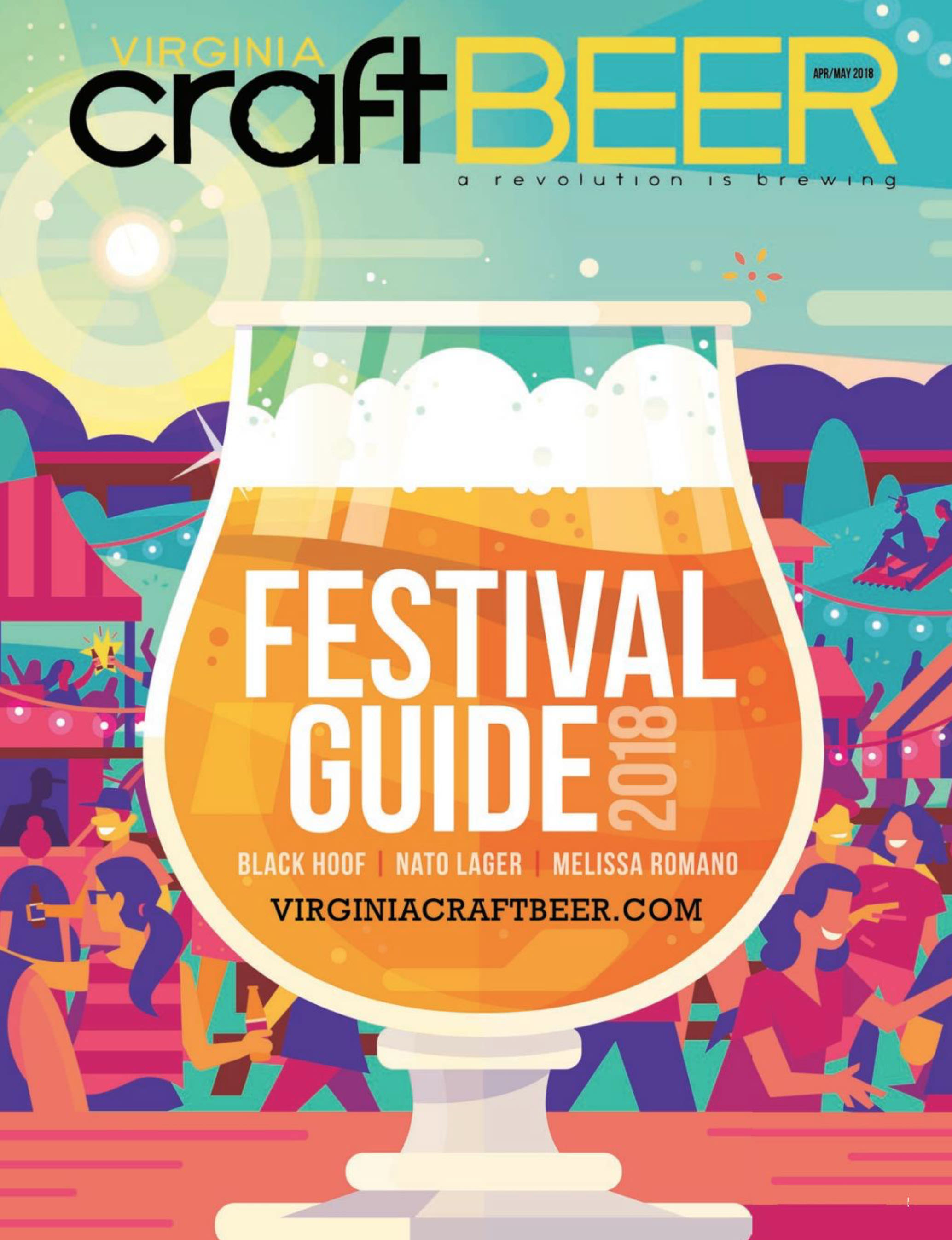 Cover of the April/May 2018 issue of Virginia Craft Beer