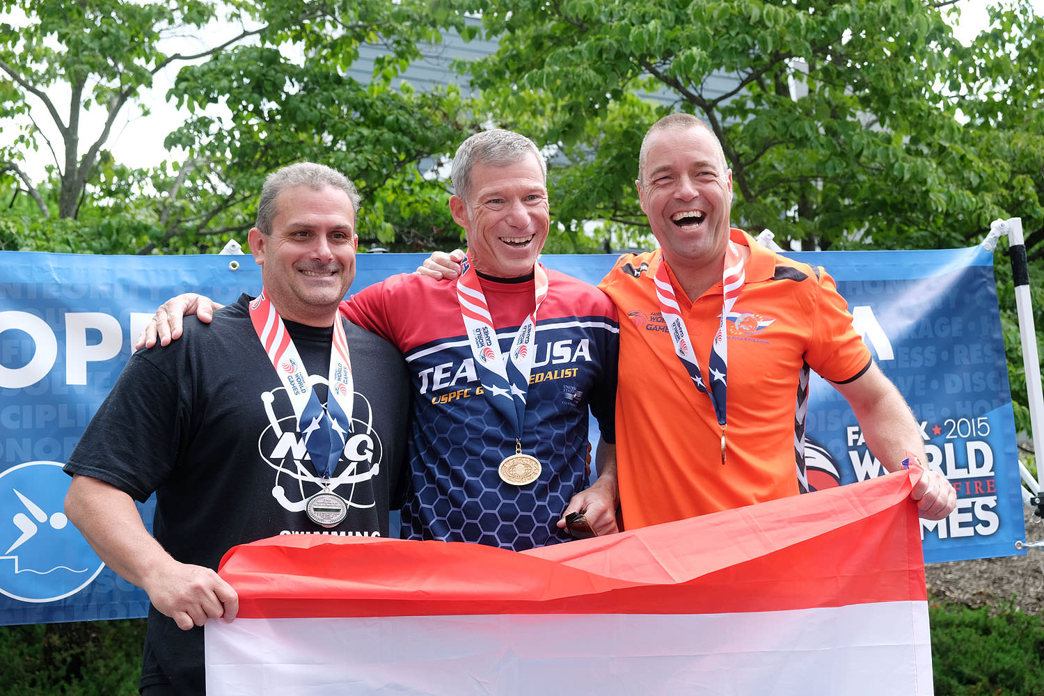 World Police and Fire Games open water swim winners