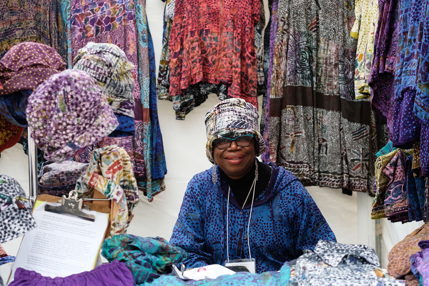 Textile artist at the Northern Virginia Fine Arts Festival