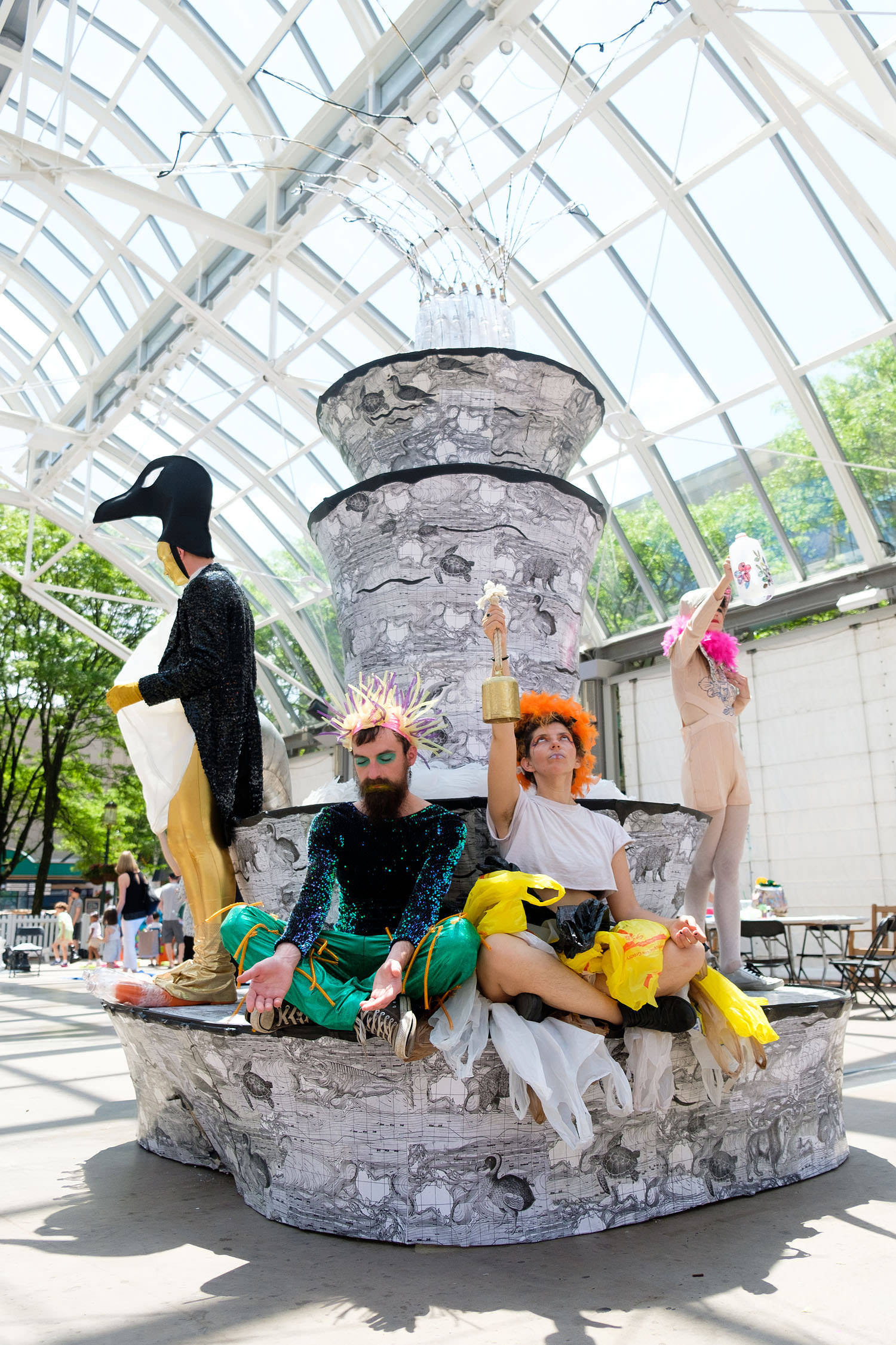 Performance artists at the Northern Virginia Fine Arts Festival at Reston Town Center