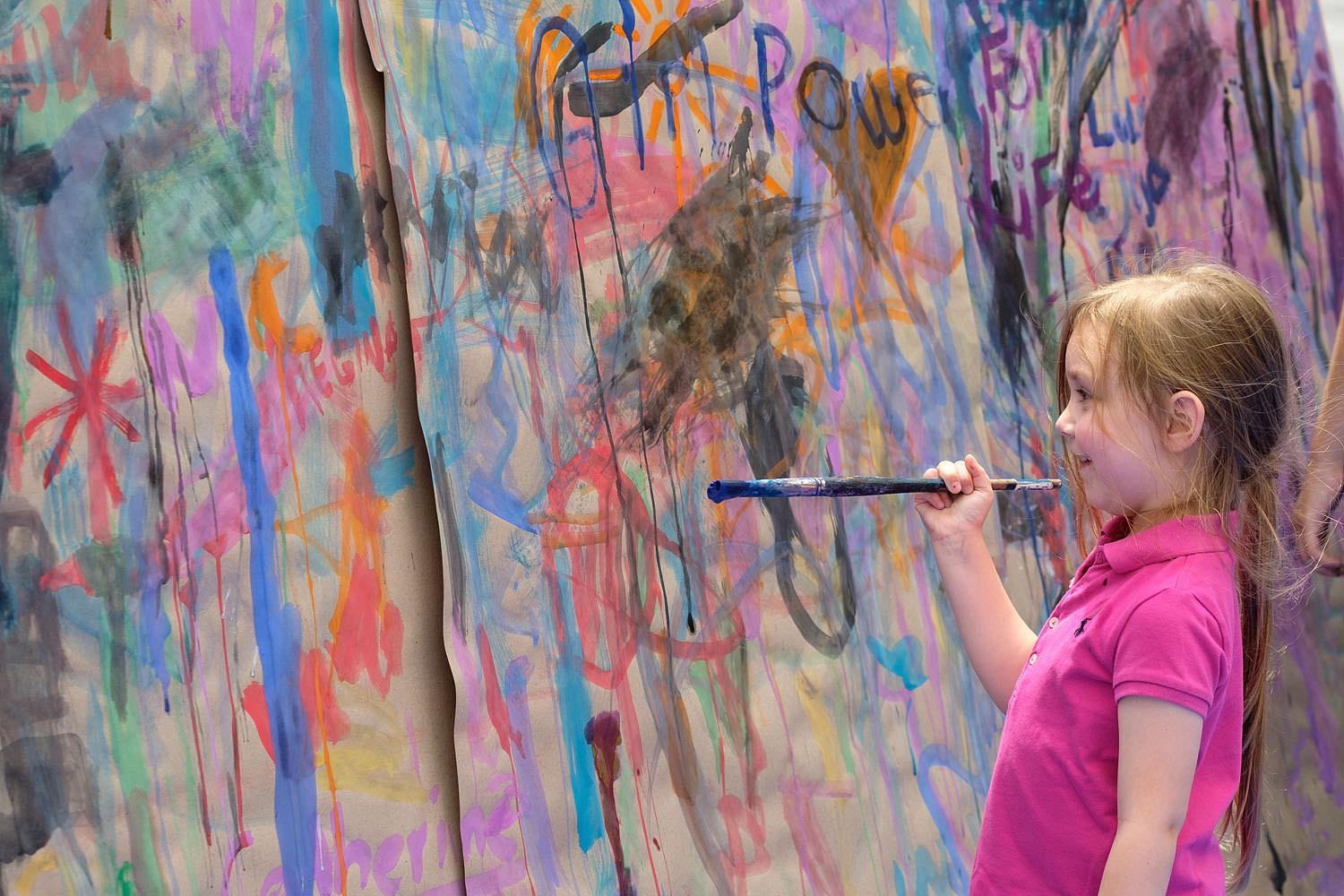 Children's activities at the Northern Virginia Fine Arts Festival