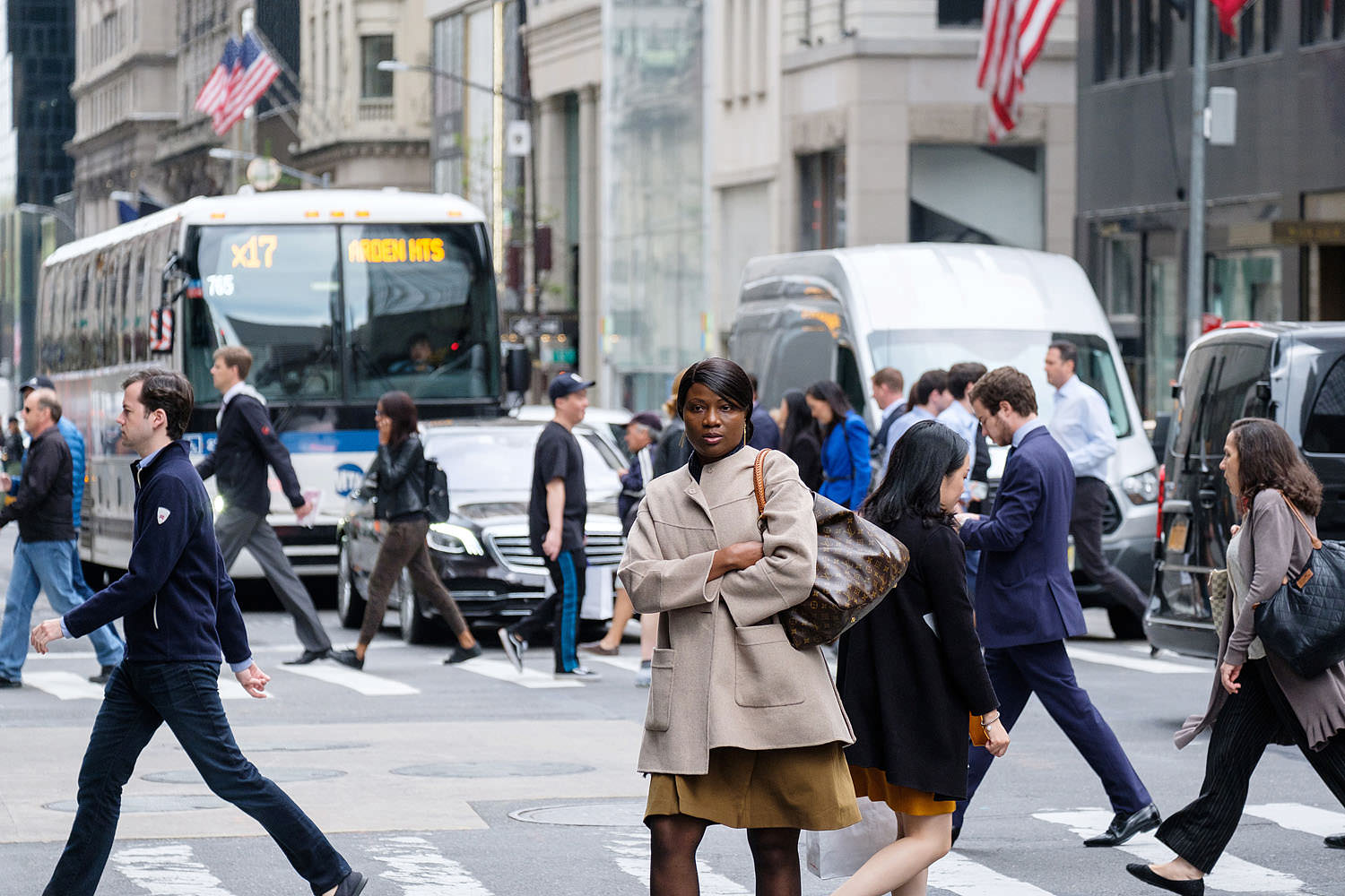 Fifth Avenue pedestrians in New York City