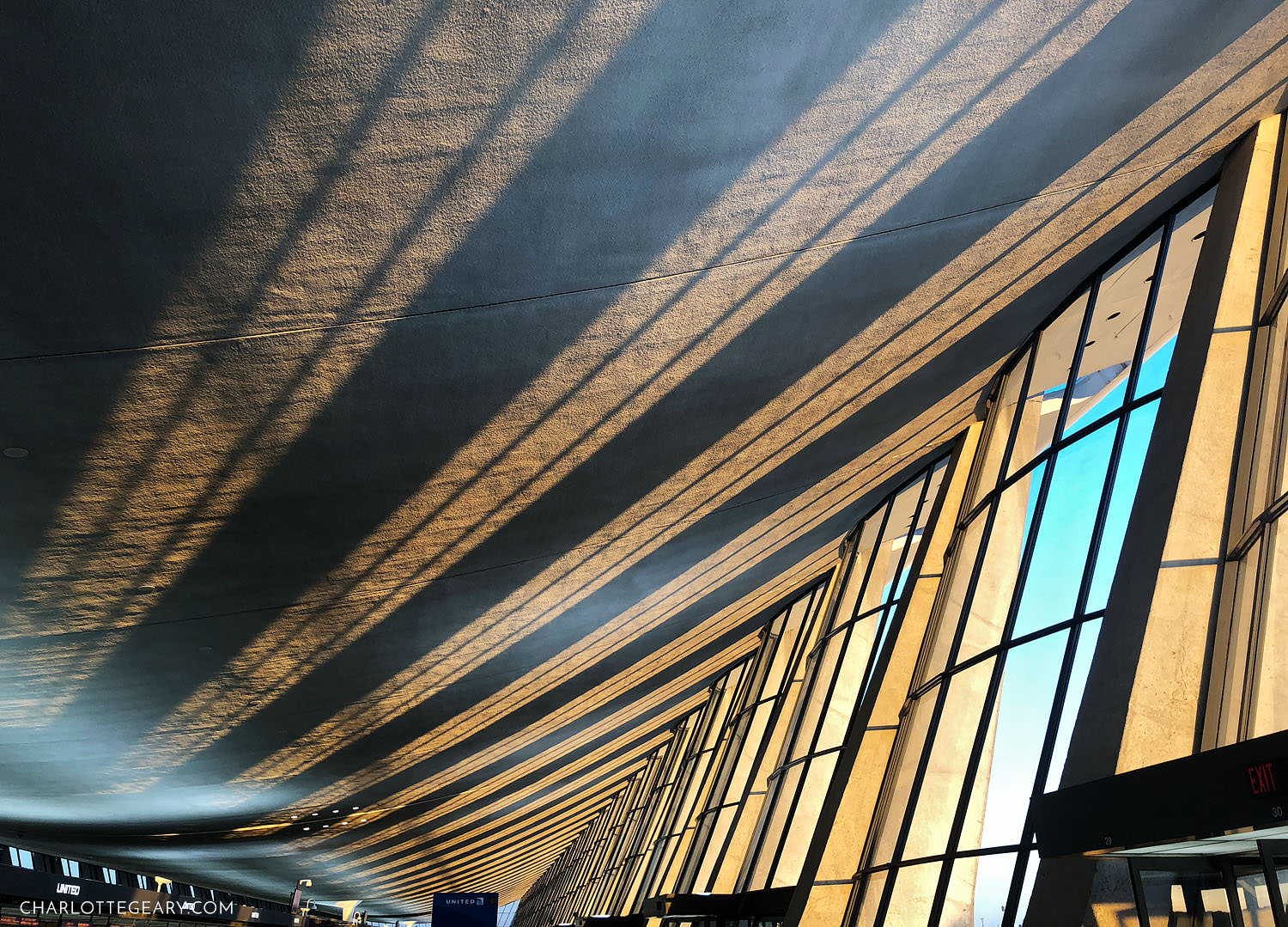 Dulles airport at sunrise