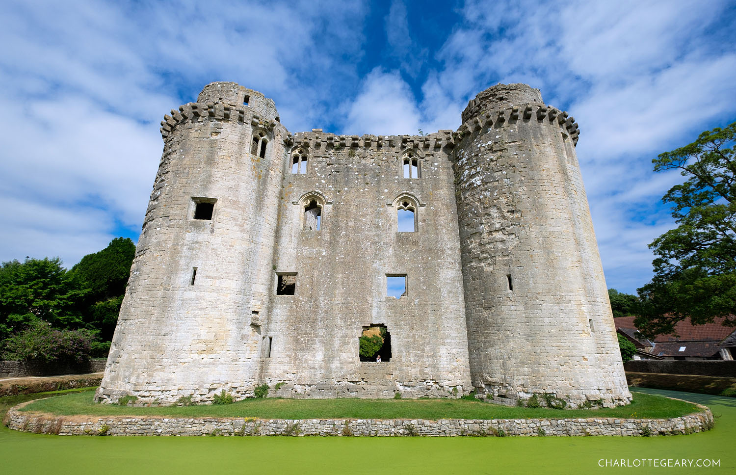 Nunney castle in Somerset