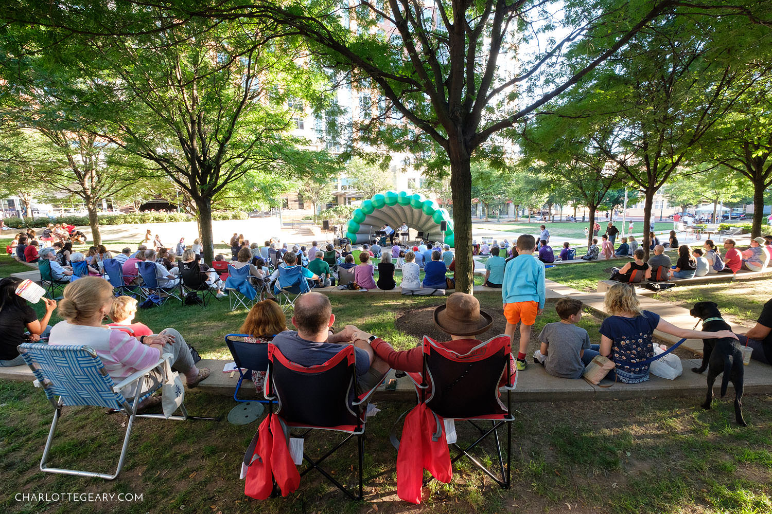 Reston Town Center Sunday concert in the park