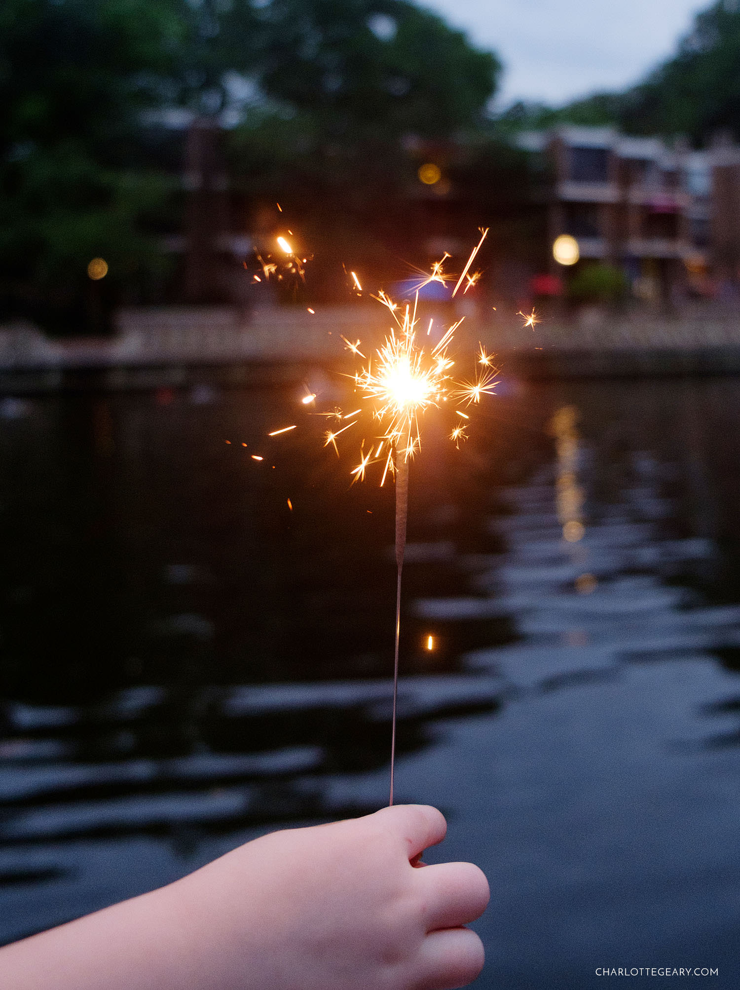 Sparkler on the Fourth of July