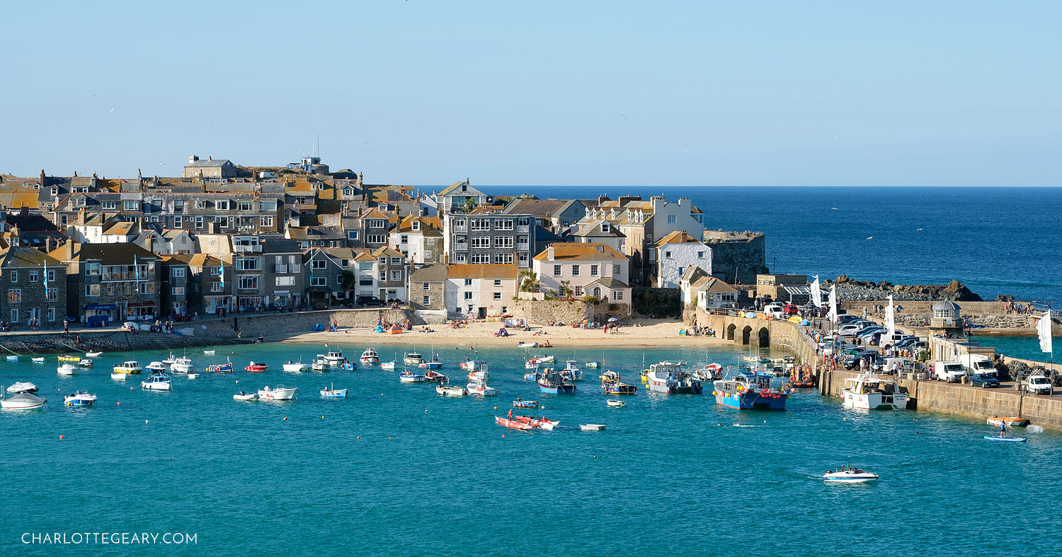St. Ives Harbour in Cornwall, England