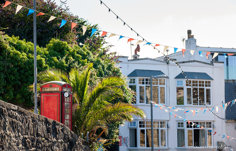 Street scene in St. Ives, Cornwall, England