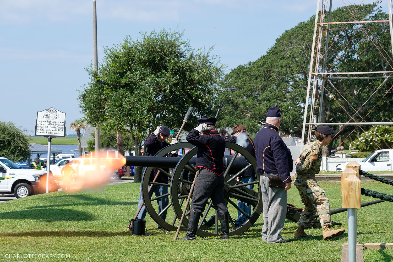 Sunny Point change of command cannon