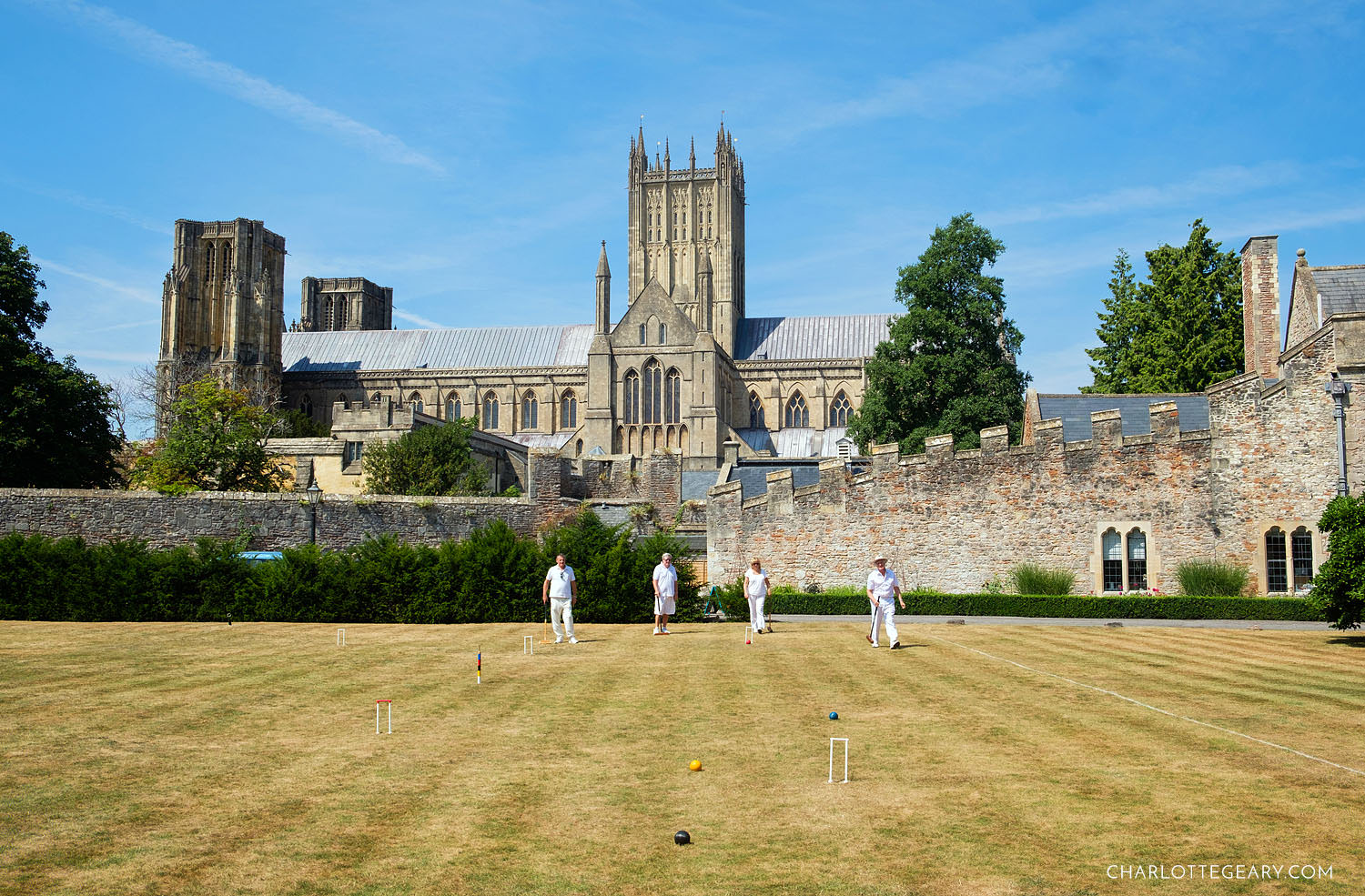 Croquet at Bishop's Palace in Wells, Somerset