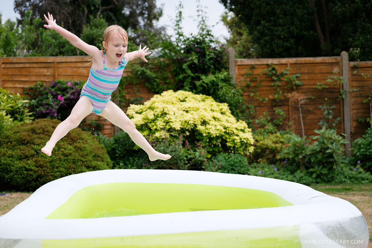 Kiddie pool jump