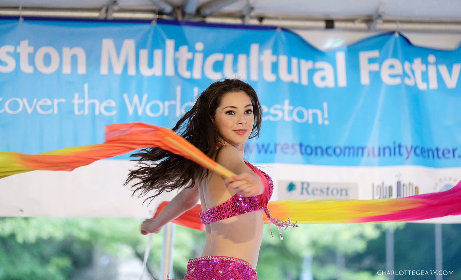 Belly dancer Madison Nunez at the Reston Multicultural Festival