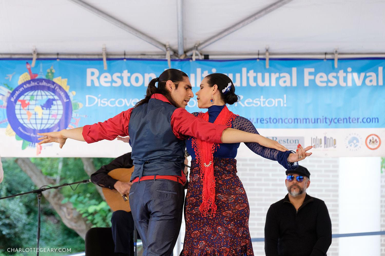 Furia Flamenca flamenco dancers at the Reston Multicultural Festival