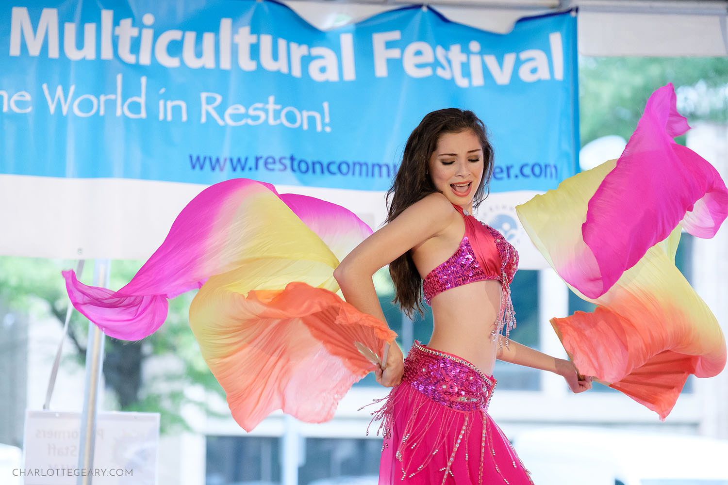 Reston Multicultural Festival belly dancer Madison Nunez