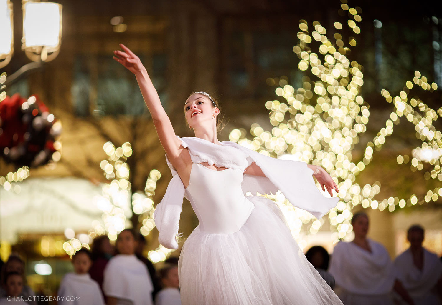 Ballet dancer at Reston Town Center's tree lighting ceremony (Reston, Virginia)