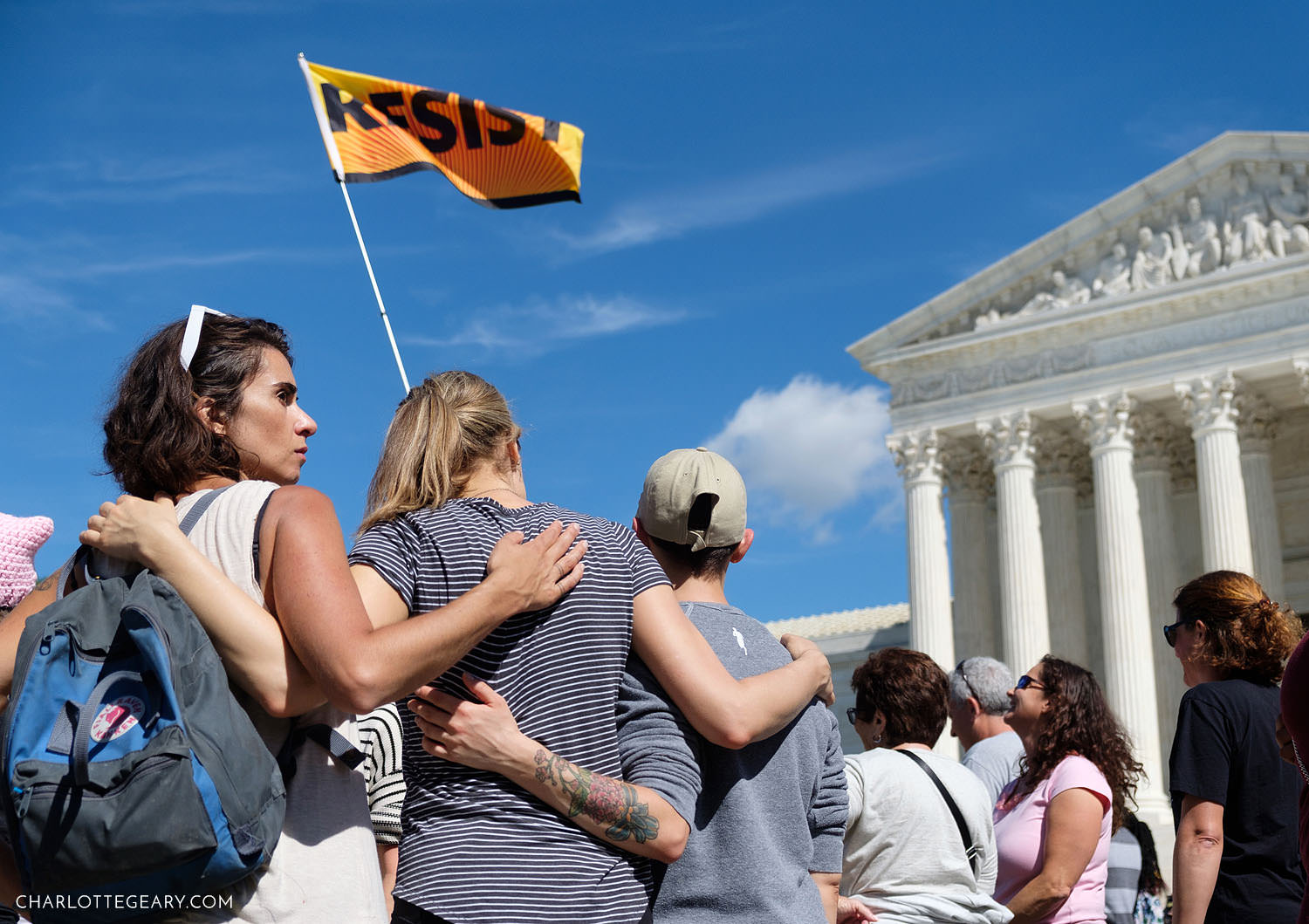Anti-Kavanaugh protest rally at the Supreme Court (Washington, D.C.)