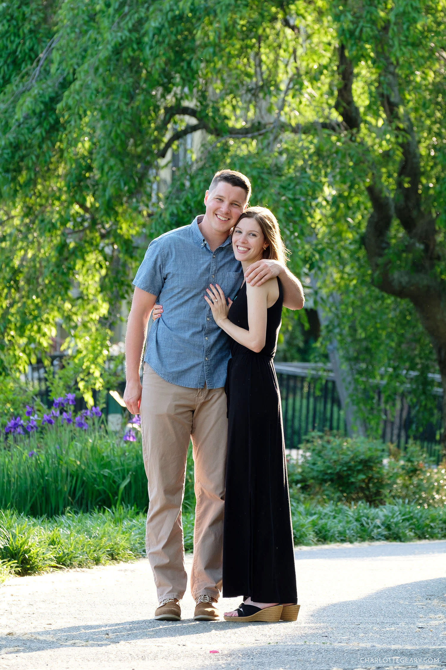 Engagement portrait at Lake Anne in Reston, Virginia