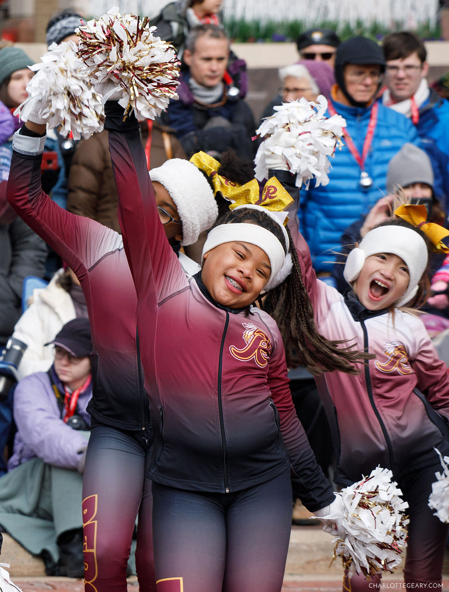 Junior Redskin Cheerleaders at the Reston Holiday Parade (Reston, Virginia)