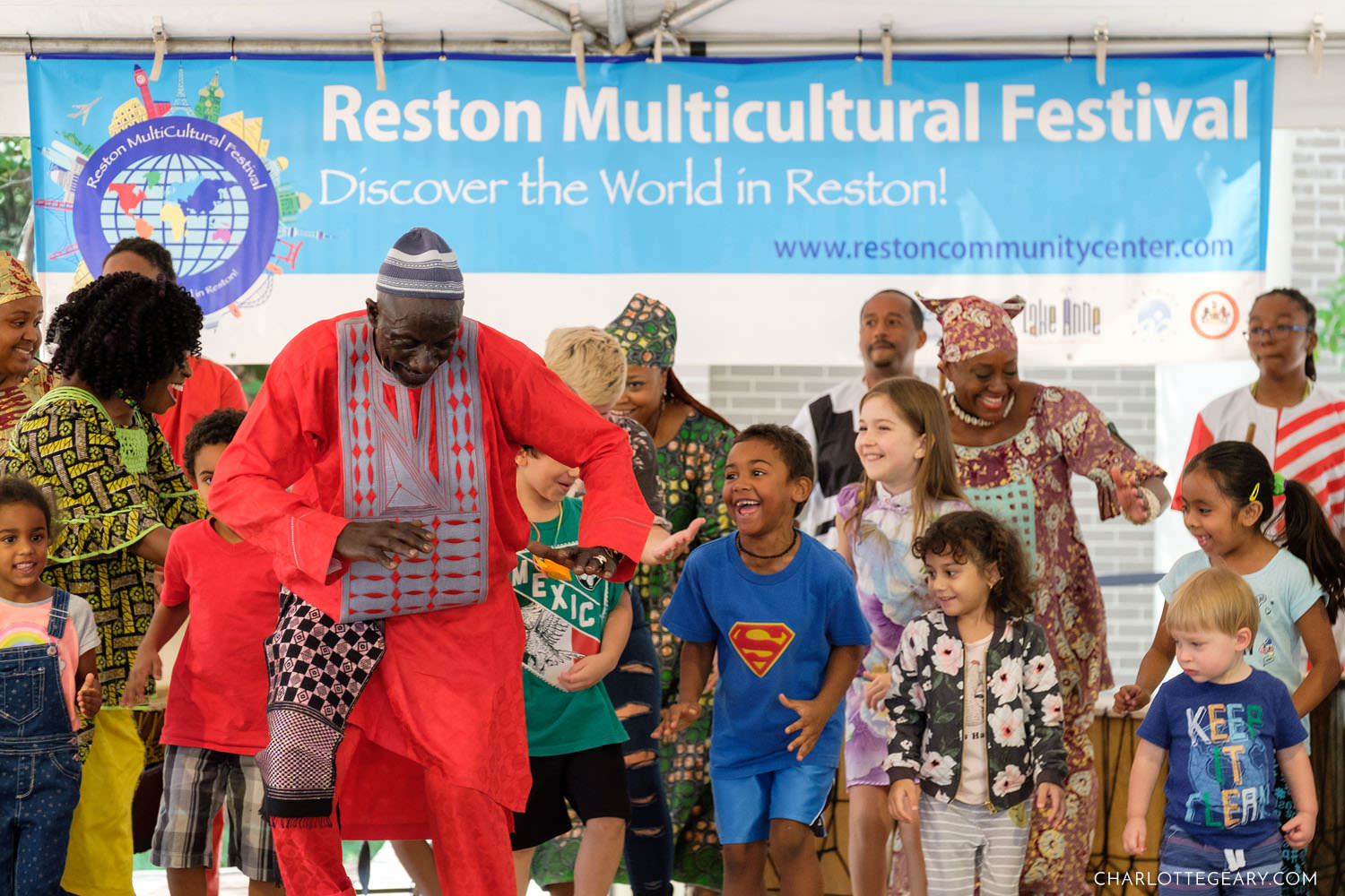 Dancers and kids at the Reston Multicultural Festival (Reston, Virginia)