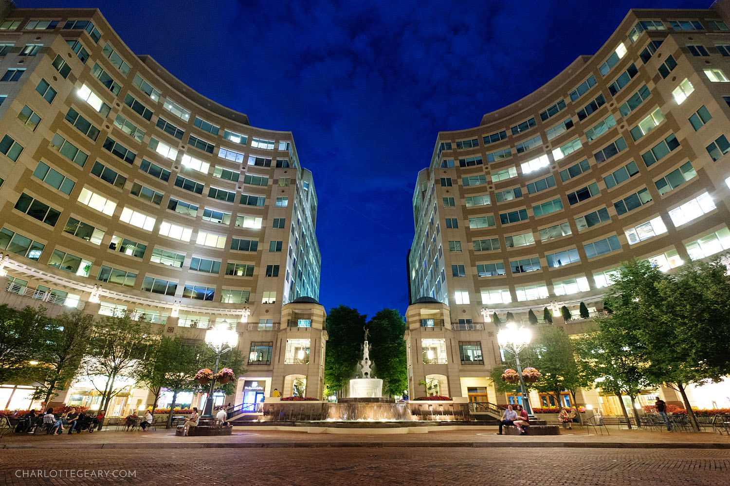 Market Street and Mercury Fountain at Reston Town Center