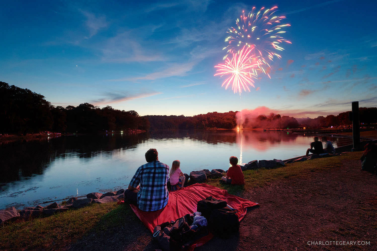 Fourth of July fireworks at Lake Fairfax (Reston, Virginia)